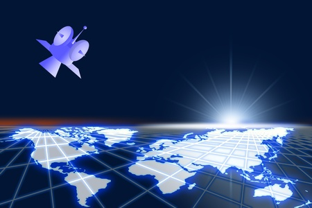 High space of world and satelite communicate Stock Photo - 12912201