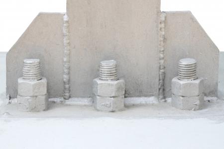 metal base: Bolt and nut of base metal pillar
