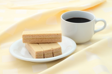 Breaking time meal focus on top wafer. Stock Photo - 14939820