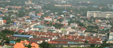 Local city monring top scence. Stock Photo