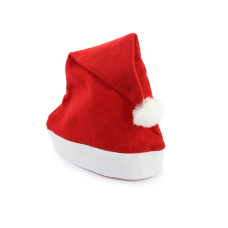 Santa Claus hat on white background.