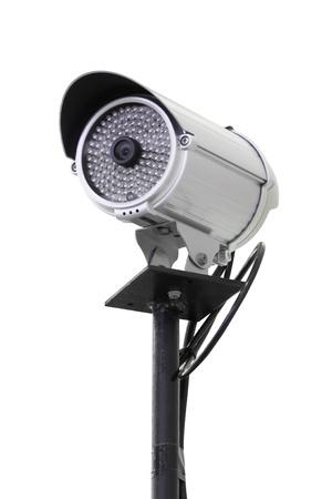 Security camera pole isolated on white background. Stock Photo - 16986957