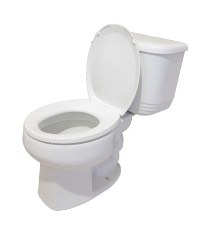 Ceramic toilet isolated on white background. Stock Photo - 22971034