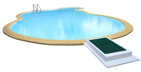 swimming pool: Swimming pool isolated on white background.