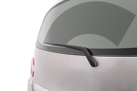 ruitenwisser: Ruitenwisser achter windscherm cleaner.