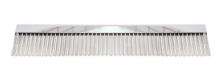 Comb stainless ridged cutter for bakery on white background.