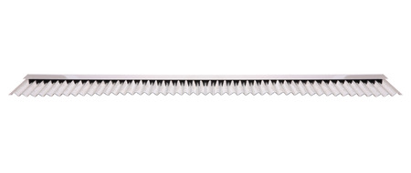 ridged: Stainless ridged cutter for bakery on white background. Stock Photo