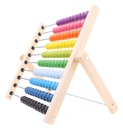 Abacus for child learning on white background. Stock Photo