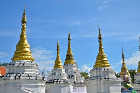 pagoda in temple,Chiang mai THAILAND photo