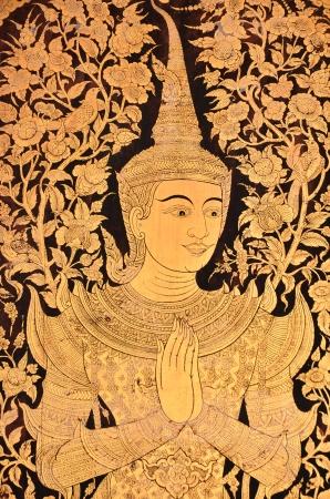 Thai Temple door painting Stock Photo - 17008795