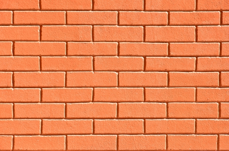 Orange block wall could be used for background  Stock Photo - 17008937