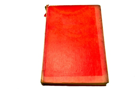 old red cover notebook Stock Photo - 17364993