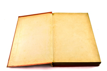 Old book isolated on white background Stock Photo - 17364990