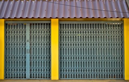 Corrugated Metal Industrial with yellow pole