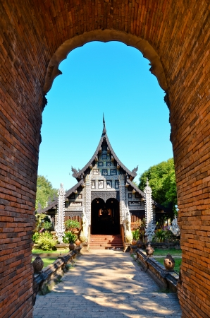 tunnel in front buddhism temple, Chiangmai_THAILAND photo