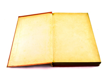 Old book isolated on white background Stock Photo - 18842378