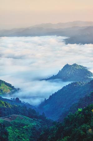 the beautiful mountain range in Thailand