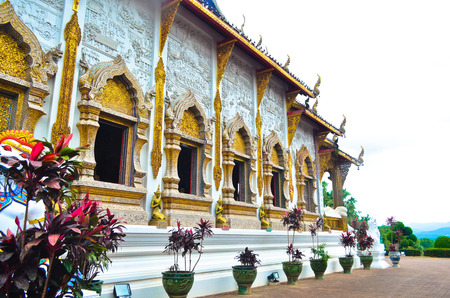 Ancient pagoda temple in Chiang Mai, Thailand. photo