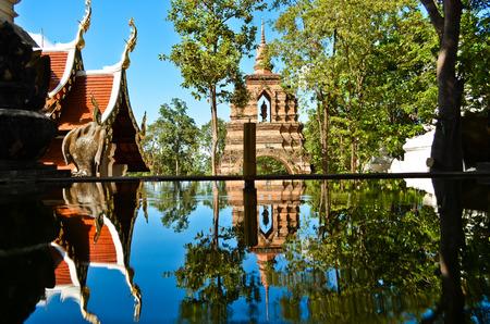 Chiang rai ,Thailand - october 26, 2014 : Sukhothai historical park, the old town of Chiang rai Thailand. Editorial
