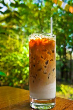 iced coffee: iced coffee - Stock Image