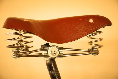 saddle: Bicycle saddle - Stock Image Stock Photo