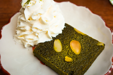 stock image: Matcha cake - Stock Image Stock Photo