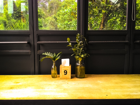 coffeeshop: wood stool  in coffeeshop