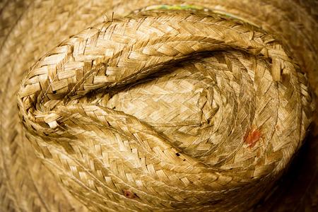 wicker bar: brown handicraft weave texture wicker surface Stock Photo