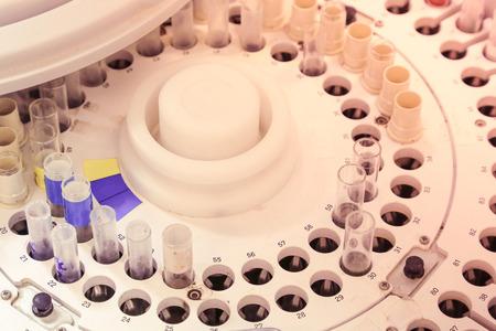 analyzer: blood tube on blood analyzer