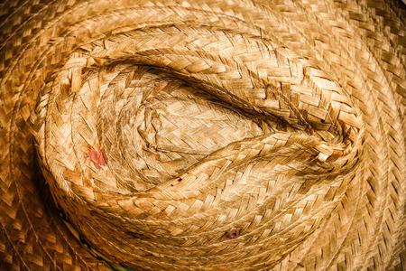 brown handicraft weave texture wicker surface Stock Photo