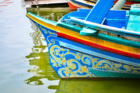 colorful long tail boat in Thailand
