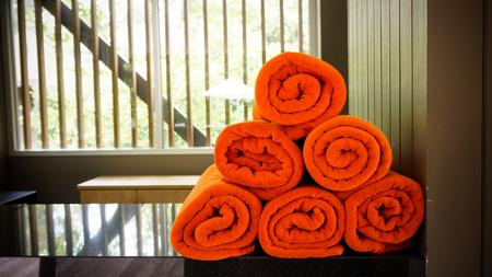 Pool towel Stock Photo