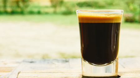 Espresso Macchiato and water