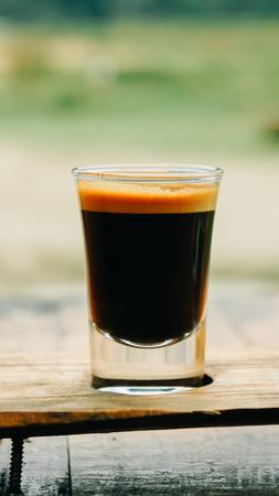 Espresso Macchiato shot Stock Photo