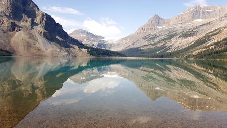 Bow lake, Canada Stock Photo