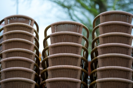 disillusionment: chairs stacked