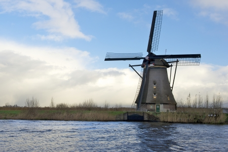 polder: windmill in dutch polder