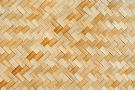 Thai style bamboo wall photo