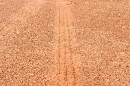 tire mark in laterite Stock Photo - 23980173