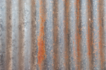A rusty corrugated iron metal texture.