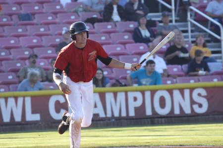 shortstop: 28 Stephen Branca,shortstop of the 2012 Salem-Keizer Volcanos,Hit a single at Volcano Stadium. August 1st.
