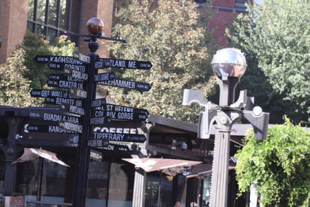 pioneer: Pioneer Court house Square sign,PORTLAND,OREGON