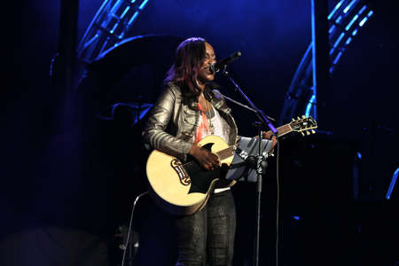 Jamie Grace at the 2012 Winter Jam in Portland,Oregon November 16th. 新聞圖片