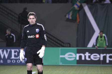 Troy Perkins former goaltender of the Portland Timbers now with Montreal Impact. Editorial