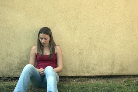 leans: Sad Woman