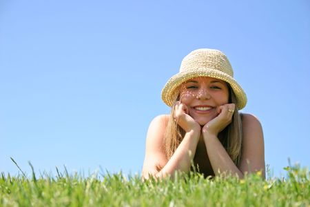 Girl and Grass Stock Photo - 222237