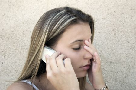 calling on phone: Distressed
