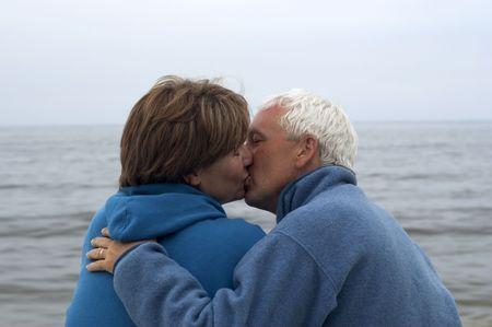 man 40 50: Kissing Couple