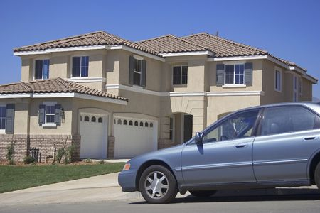 driveways: House and Car Stock Photo
