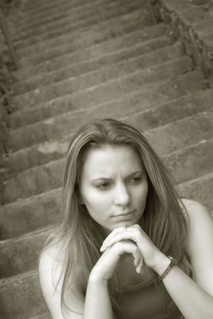 Sad Woman Stock Photo - 245332